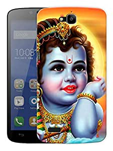 "Baal Krishna Young - - Indian Hindu God Printed Designer Mobile Back Cover For ""Huawei Honor Holly"" By Humor Gang (3D, Matte Finish, Premium Quality, Protective Snap On Slim Hard Phone Case, Multi Color)"
