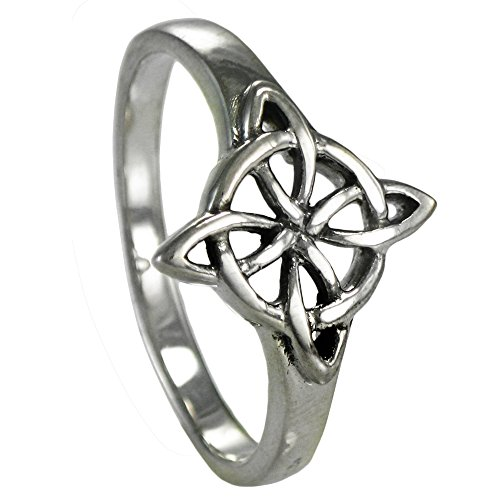 Sterling Silver Celtic Quaternary Witches Knot Ring