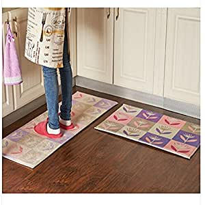 Amazon Ustide 3 Piece Colorful Mimose Rug Kitchen Rug