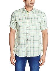 Park Avenue Men's Casual Shirt (8907117074677_PCSB00745-N4_39_Medium Green)