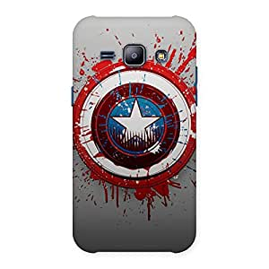 Stylish Premier Blood Round Multicolor Back Case Cover for Galaxy J1