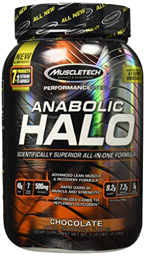 MuscleTech Anabolic Halo, All-in-One Lean Muscle Shake, Chocolate