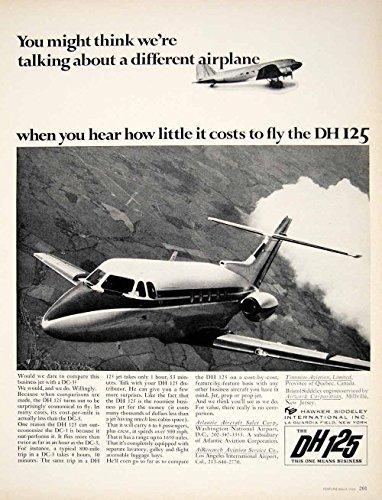 1966 Ad Vintage Hawker Siddeley DH 125 Airplane Business Personal Aircraft YFM2 - Original Print Ad