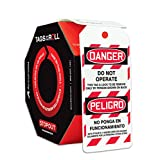 Accuform Signs TAR460 Tags By-The-Roll Spanish Bilingual Lockout Tags, Legend