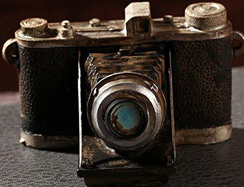 Zakka Grocery Home Furnishing Decor Craft Ornaments Worn Do Dirty Craft Tin Camera/radio/piano Decoration (Camera) 0