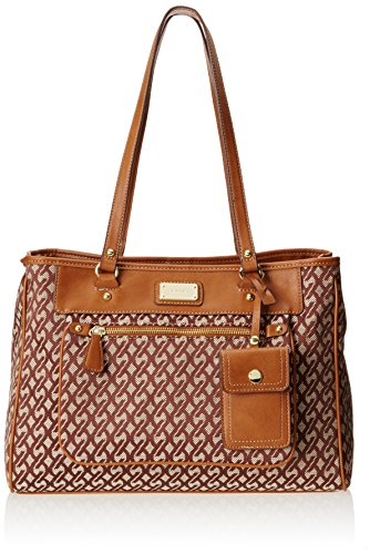 Nine West 9S Chainlink Tote,Brown/Khahi,One Size