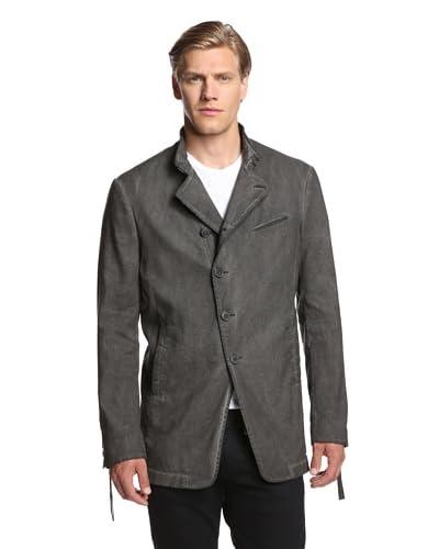 John Varvatos Collection Men's Asymmetric Button Front Cut Away Coat