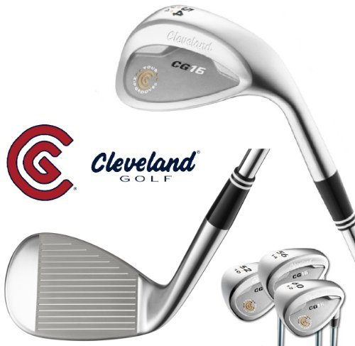 Cleveland Cg16 Satin Chrome Golf Wedge Tour Zip Grooves (Left Hand 56 Degrees)