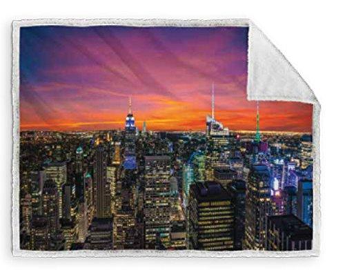Caleffi coperta Plaid NY Sunset cm 130x160