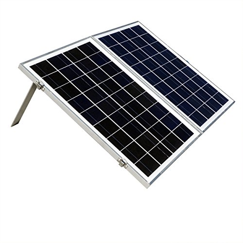 40W 12V Solar Charger Kits Portable Folding Solar Panel Module with 3 Amp Charge Controller for RV Boat (40w Solar Panel Folding compare prices)