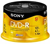 512124Q%2BsIL. SL160  Sony 50DMR47RS4 16x DVD R Discs (50 Disc Spindle)