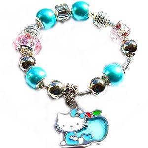 charm buddy childrens blue hello charm bracelet with