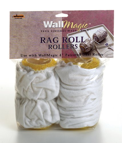 Buy Wagner WallMagic 4-Inch Rag Roll Dual Roller Covers #0510171 (Wagner Spray Tech Corp Painting Supplies,Home & Garden, Home Improvement, Categories, Painting Tools & Supplies, Applicators, Paint Rollers)