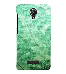 ARTISTIC LEAVES PATTERN DEPICTING THE BEAUTY OF NATURE 3D Hard Polycarbonate Designer Back Case Cover for Micromax Canvas Spark Q380