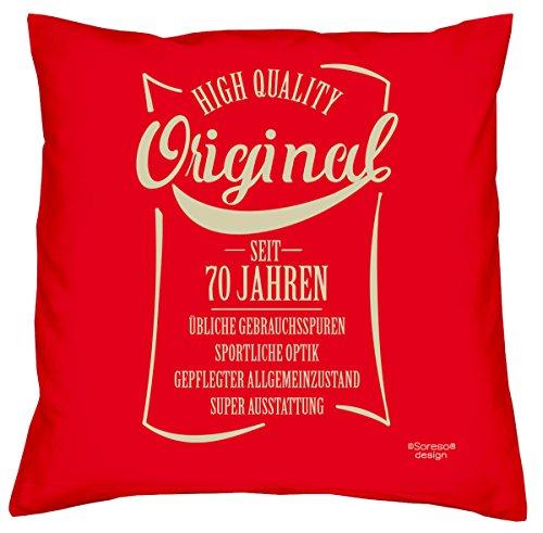 original seit 70 jahren kissen mit f llung geschenk zum. Black Bedroom Furniture Sets. Home Design Ideas