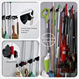 RockBirds TL45 Wall Mounted Mop and Broom Holder, storage solutions for broom holders, garage storage systems broom organizer, Lifetime Guarantee (Aluminium Alloy)