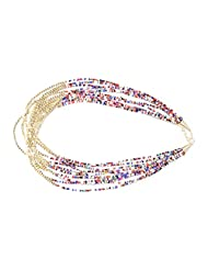 "JDX S NEW Fashionable White Multi Color ""Hot"" Pearls Necklace"