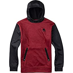 BURTON Men\'s Crown Bonded Pullover Hoodie, Small, Brick Red Heather