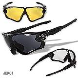 交換レンズ3枚 UVカット オリジナルスポーツサングラス ステム長さ調節可 JBK
