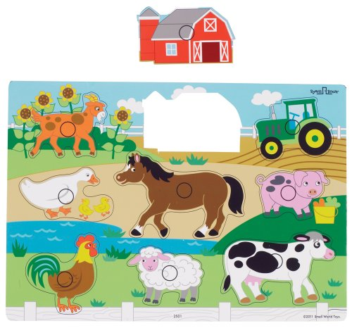 Small World Toys Ryan'S Room - Wooden Puzzle - Farm front-658400