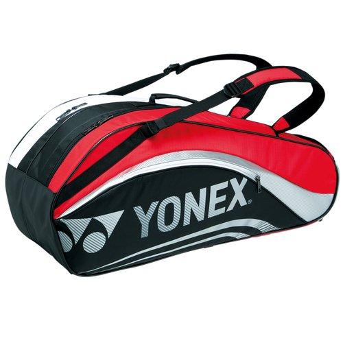 ヨネックス ラケットバッグ6(リュック付)(テニス6本用) BAG1612R ブラック/レッド(187)