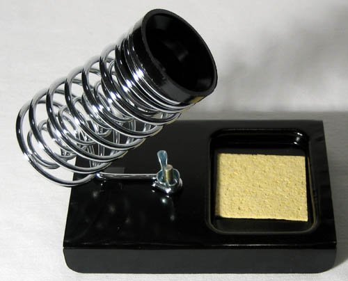 NEW SOLDERING IRON STAND HOLDER + SPONGE METAL GUN HOLD