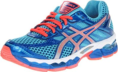 ASICS Women's GEL-Cumulus 15 Running Shoe,Turquoise/Lightning/Electric Melon,5 2A Us