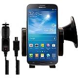 kwmobile Autohalterung für Samsung Galaxy Mega 6.3 i9200 / i9205 + Ladegerät - Handy passt mit Case oder Hülle in die Halterung!