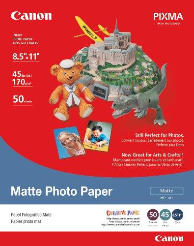 Canon 7981A004AB Matte Photo Paper (8.5L X 11W-Inch)