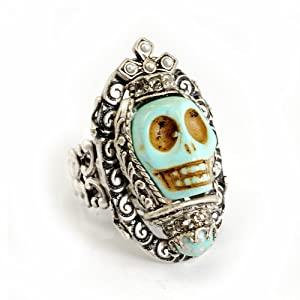 Sweet Romance Turquoise Skull Queen Ring by Sweet Romance Jewelry USA