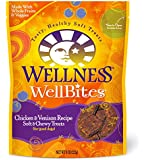 Wellness WellBites Soft Natural Dog Treats Made in USA Only, Chicken & Venison Biscuits, 8-Ounce Bag
