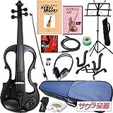 Hallstatt ハルシュタット エレキヴァイオリン EV-30/ブラック 4/4サイズバイオリン サクラ楽器オリジナル 初心者入門セット ランキングお取り寄せ