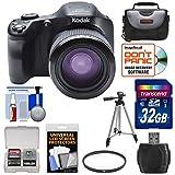 Kodak PixPro AZ651 Astro Zoom Wi-Fi Digital Camera with 32GB Card + Case + Tripod + Filter + Kit