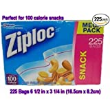 Ziploc Snack Bag Value Pack, 225-Count