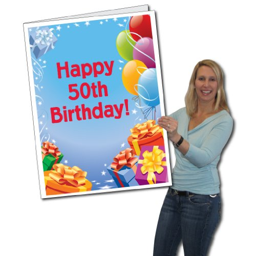 VictoryStore Jumbo Greeting Cards Giant 50th