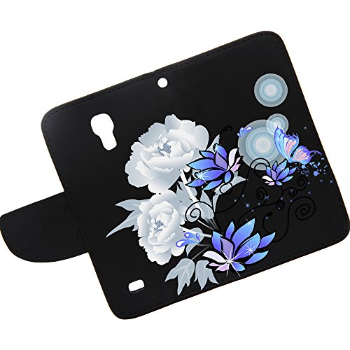 Miniturtle, Flip Book Cover Pu Leather Colorful Wallet Phone Case Card Holder With Wrist Strap, Stylus Pen, And Lcd Screen Protector Film For Android Smartphone Samsung Galaxy S4 Iv Mini I9190 (Illuminating Nature)