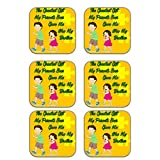 MeSleep Rakhi Wooden Coaster-Set Of 6 - B013LEMKLI