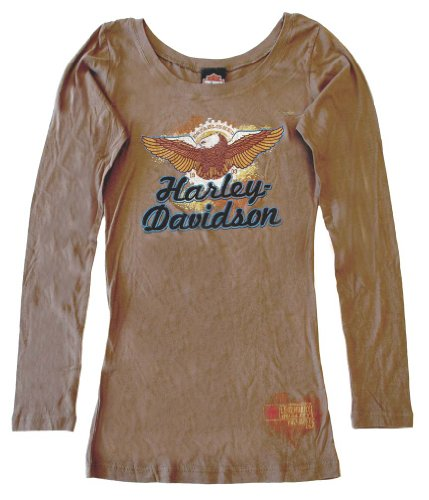 Harley-Davidson Women's Express Eagle L/S Shirt Brown 30293126