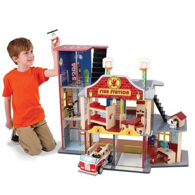 Fire Rescue Set Kidkraft 63218 Firestation Toy Tttjciwh