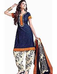 Samskruti Exclusive Fancy Unstitched Cotton Chudidar - Dress Material (D813)