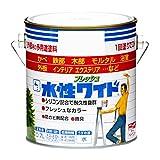 ニッペ 多用途塗料 水性フレッシュワイド つやなしブラック 0.7L