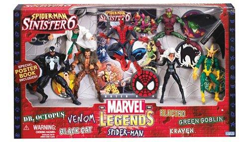 ce5ba8c27aa8b Marvel Legends Action Figure Boxed Set SpiderMan vs. The Sinister Six -  Epic Kids Toys