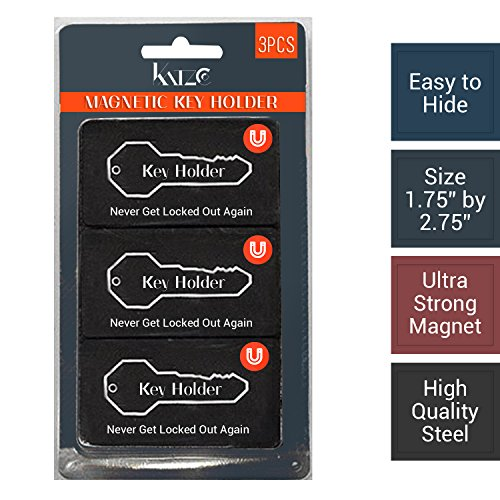 """Magnetic Hide a Key Holder, Fits 3"""" Inches Long Keys, Extra Super Strong Magnet, Good for Extra Spare Car Key,"""