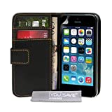 Yousave Accessories PU Leather Wallet Cover Case for iPhone 5S / 5 – Black