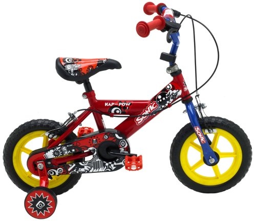 Sonic Kap-Pow Boys Bike - Red/Blue, 12-Inch
