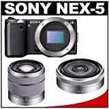 Discount on Sony Alpha NEX-5 Digital Camera Body &amp; E 16mm f/2.8 Lens (Black) with 18-55mm f/3.5-5.6 OSS Zoom Lens