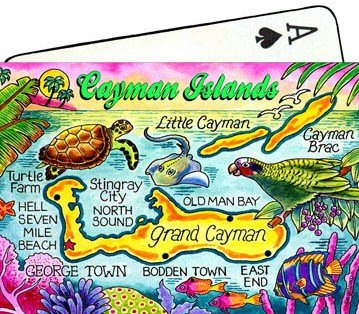 Cayman Islands Map Collectible Souvenir Playing Cards