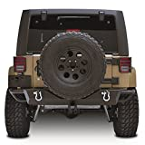 Restyling Factory JK Jeep Wrangler Rear Bumper with Jeep JK Receiver and D-Rings