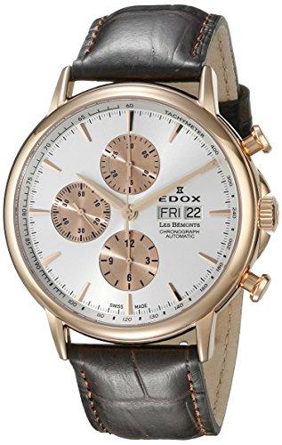 Edox Les Bémonts reloj hombre cronógrafo automática 01120 37R AIR