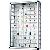 Vetrina collezione in alluminio e vetro richiudibile 60 x 94cm